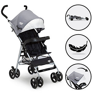 Delta Children 365 Lightweight Stroller, Gray, large