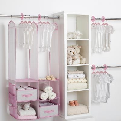 Delta Children 24-piece Nursery Storage Set, Pink, large
