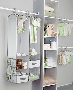 Delta Children 24-Piece Nursery Storage Set, Dove Gray, rollover