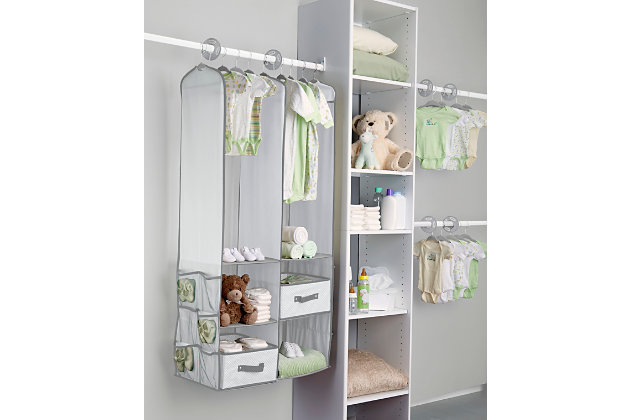 Delta Children 24-Piece Nursery Storage Set, Dove Gray, large