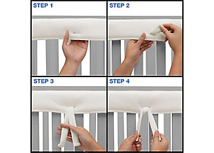 Delta Children Waterproof Fleece Crib Rail Cover for Front or Back Rail, White, large