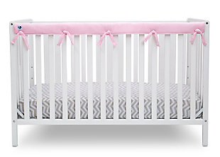 Delta Children Waterproof Fleece Crib Rail Cover for Front or Back Rail, Pink, large