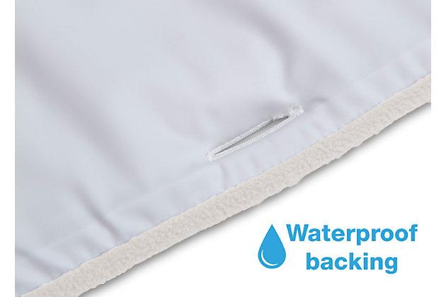 Delta Children Waterproof Fleece Crib Rail Covers for Short Side Rails, White, large
