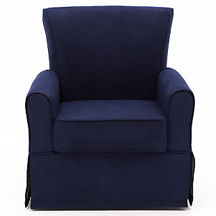 Delta Children Benbridge Glider Swivel Rocker Chair, Navy Blue, large