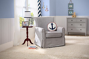 Delta Children Benbridge Glider Swivel Rocker Chair, Gray, large