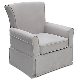 Delta Children Benbridge Glider Swivel Rocker Chair, Gray, large
