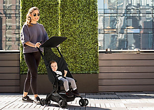 Delta Children Clutch Travel Stroller, Black, rollover