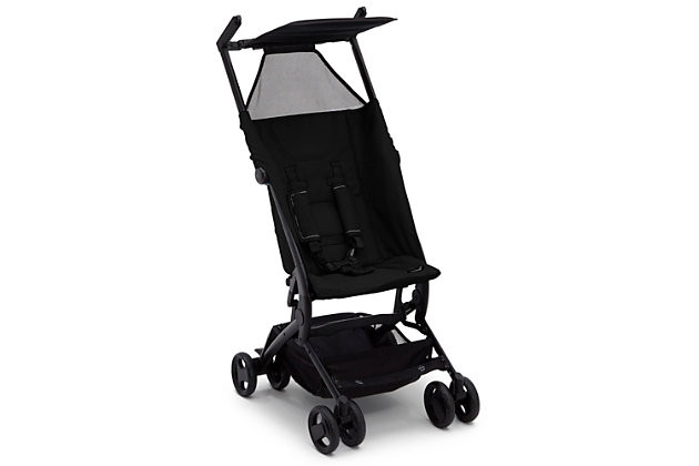Delta Children Clutch Travel Stroller, Black, large