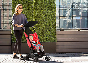 Delta Children Clutch Travel Stroller, Red, rollover