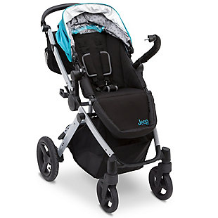 Delta Children Jeep® Sport Utility All-Terrain Stroller, Blue, rollover