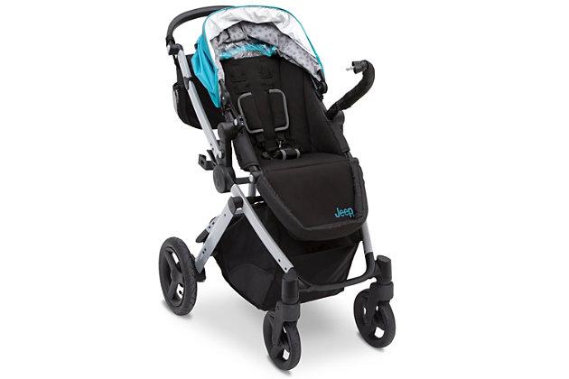 Delta Children Jeep® Sport Utility All-Terrain Stroller, Blue, large