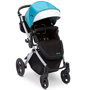 Delta Children Jeep® Sport Utility All-Terrain Stroller, Blue, large