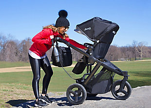 Delta Children Jeep Sport Utility All-Terrain Jogger, Black, rollover
