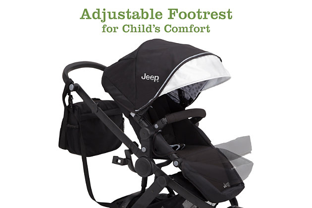 Delta Children Jeep Sport Utility All-Terrain Jogger, Black, large