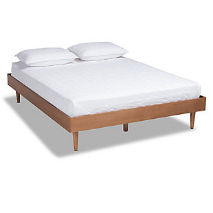 Baxton Studio Rina Mid-Century Queen Wood Bed Frame, Brown, large