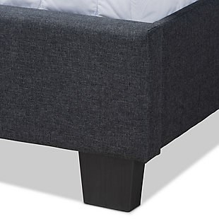 Baxton Studio Ansa Upholstered Queen Bed, Gray, large