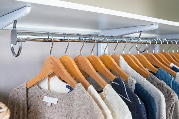 "Organized Living freedomRail® Ultimate Adjustable Closet Kit, 72""-76"", Chocolate Pear, large"