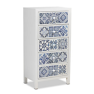 Baxton Studio Alma Spanish Mediterranean Inspired 5-Drawer Accent Chest, , large
