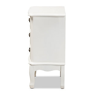 Baxton Studio Gabrielle French Country Provincial 3-Drawer Nightstand, , large
