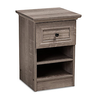 Baxton Studio Dara 1-Drawer Wood Nightstand, , large