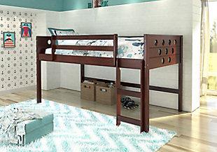 Kids Twin Low Loft Bed, , rollover