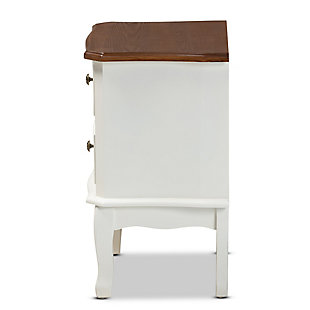 Baxton Studio Darlene Wood 2-Drawer Nightstand, , large
