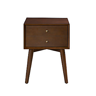 Crosley Landon Nightstand, Brown, large
