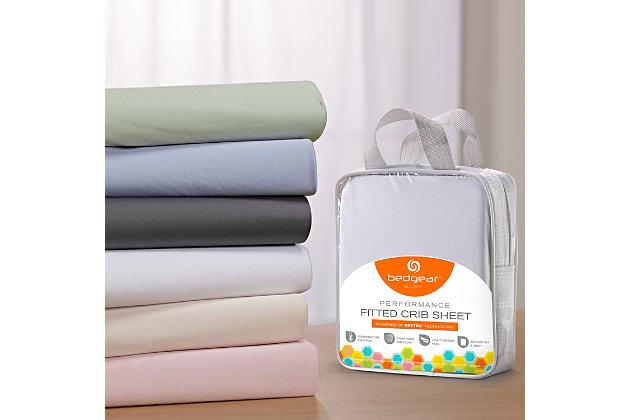 Bedgear Dri-Tec® Crib Sheets, Blue, large