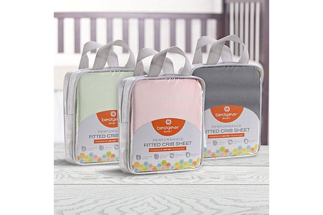 Bedgear Dri-Tec® Crib Sheets, Pink, large