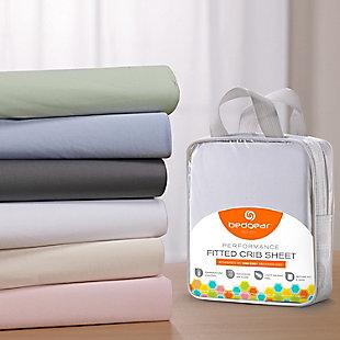 Bedgear Dri-Tec® Crib Sheets, Steel Gray, large