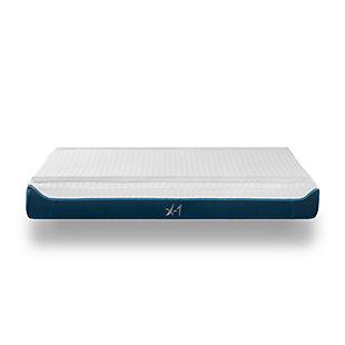 Bedgear X-1 Edge Mattress - Boxed (Twin), White/Blue, large