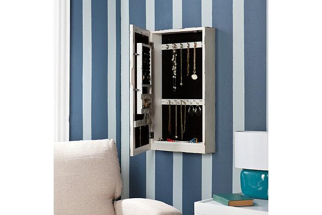 Southern Enterprises Polara Wall Mount Jewelry Mirror, , large
