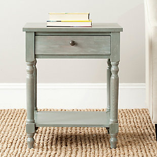 Safavieh Tami Night Stand with Storage, French Gray, rollover
