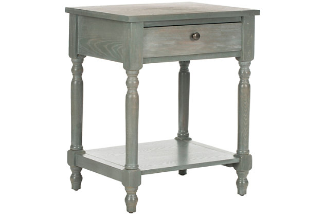 Safavieh Tami Night Stand with Storage, French Gray, large
