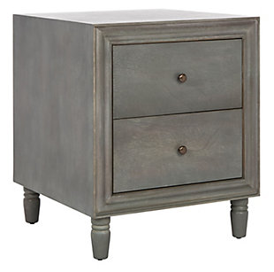 Safavieh Blaise Night Stand with Storage, French Gray, large