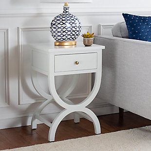 Safavieh Maxine Night Stand with Storage, Shady White, rollover