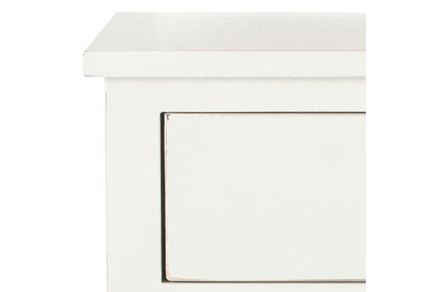 Safavieh Maxine Night Stand with Storage, Shady White, large