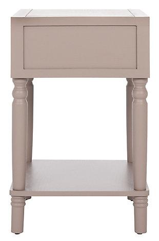 Safavieh Siobhan Night Stand with Storage, Quartz Gray, large