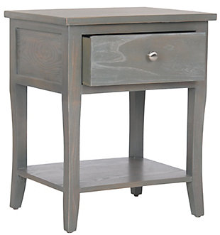 Safavieh Coby Night Stand with Storage Drawer, French Gray, large