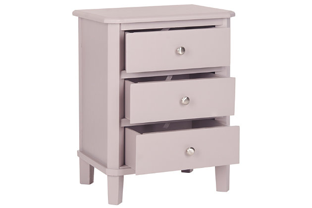 Safavieh Joe Night Stand with Storage Drawers, Quartz Gray, large