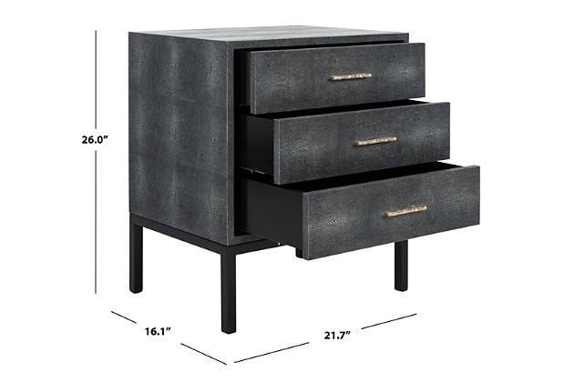 Distressed Black Wood Safavieh Camden Console