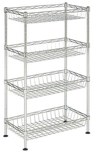 Safavieh Gaston 4 Tier Chrome Wire Mini Rack, , large