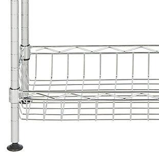 Safavieh Gaston 4 Tier Chrome Wire Mini Rack, , large