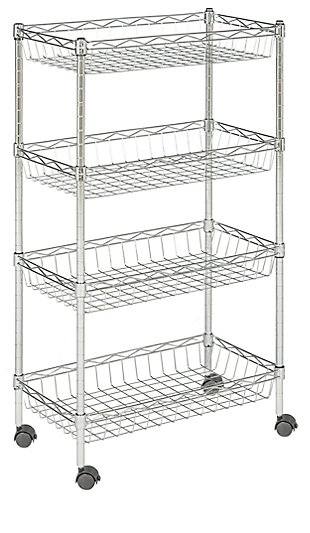 Safavieh Mario 4 Tier Chrome Wire Basket Rack Happimess, , large