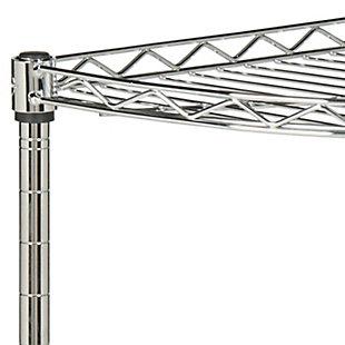 Safavieh Damaris 4 Tier Chrome Wire Corner Rack, , large