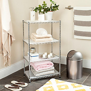 Safavieh Jules Adjustable Chrome Wire Mini Rack, , rollover