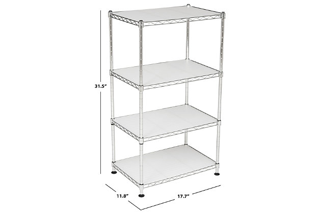 Safavieh Jules Adjustable Chrome Wire Mini Rack, , large