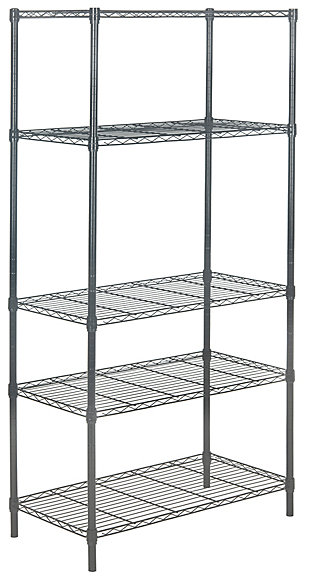 Safavieh Ceasar 5 Tier Chrome Wire Adjustable Rack, , large