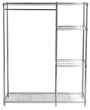 Safavieh Betsy Chrome Wire Adjustable Garment Rack, , large