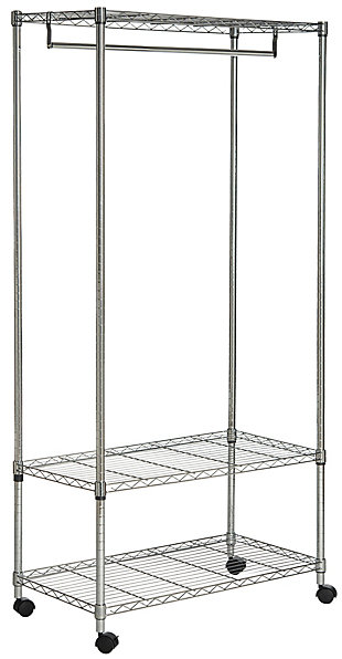 Safavieh Gordon Chrome Wire 3 Tier Garment Rack, , large